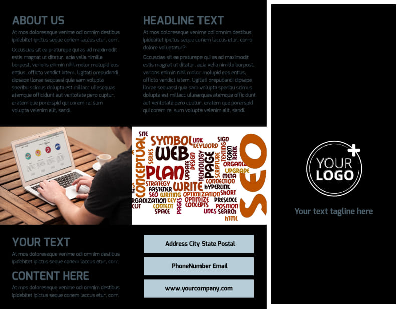 Web Hosting Brochure Template Preview 2