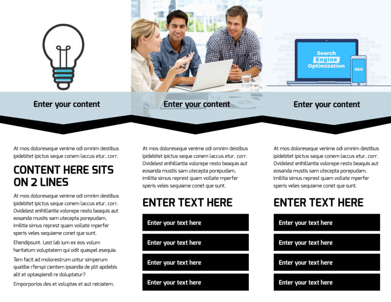Web Hosting Brochure Template Preview 3