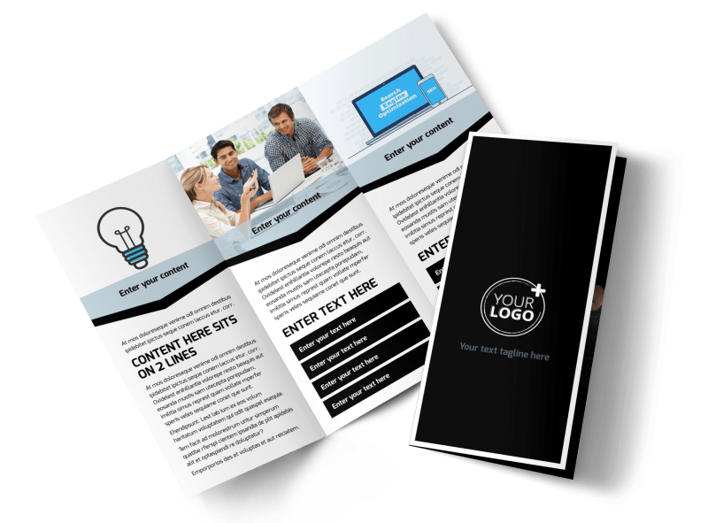Web Hosting Brochure Template Preview 1