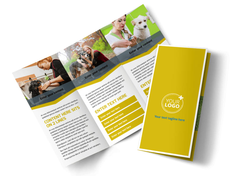 Pet Grooming Bundle Tri-Fold Brochure Template