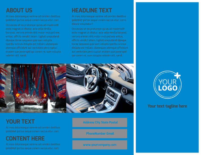Car Wash Options Brochure Template Preview 2