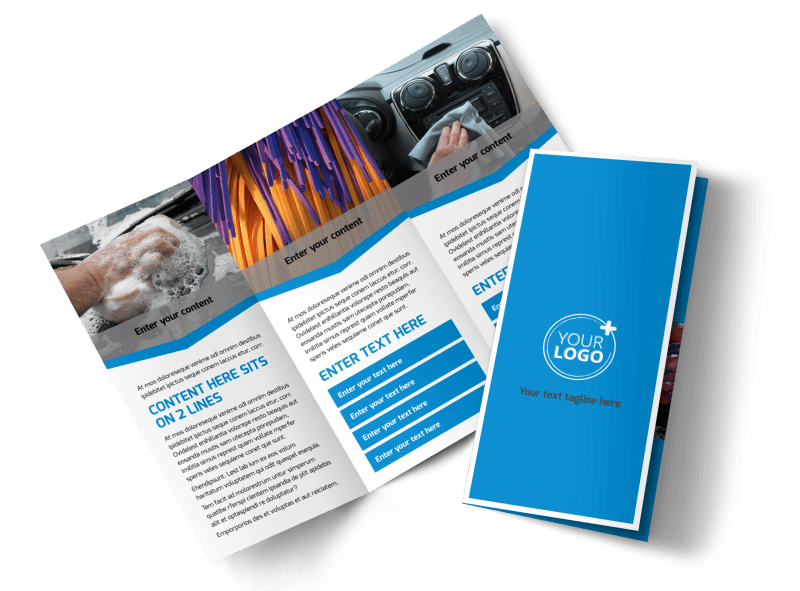 Car Wash Options Brochure Template Preview 1