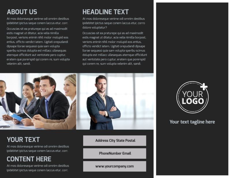 HR Services Brochure Template Preview 2