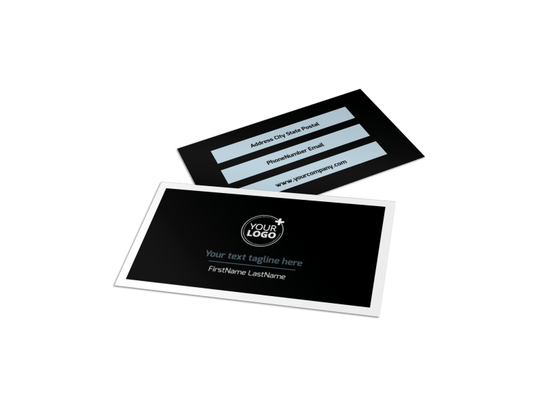 Web Hosting Business Card Template Preview 1