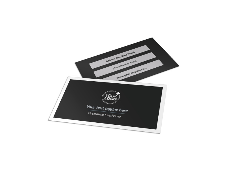 HR Services Business Card Template Preview 1