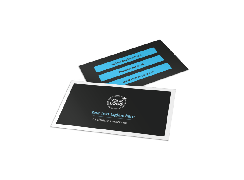 Social Media Marketing Business Card Template Preview 1