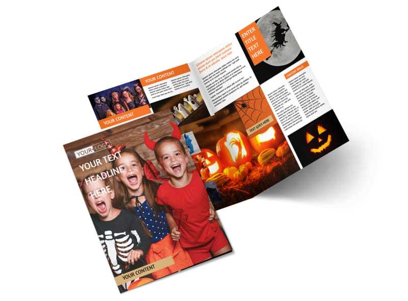 Halloween Costumes Bi-Fold Brochure Template 2