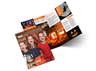 Halloween Costumes Bi-Fold Brochure Template 2 preview