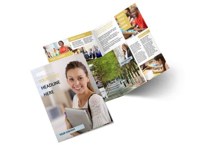 Leading Art & Design School Bi-Fold Brochure Template 2