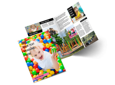 Childrens Activity Centers Bi-Fold Brochure Template 2