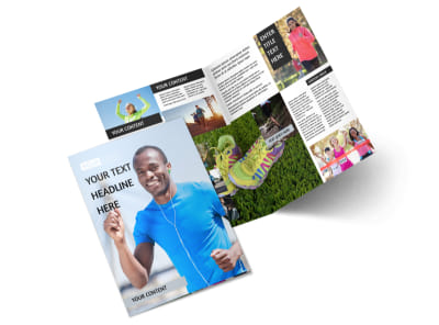 Running Clubs Bi-Fold Brochure Template 2