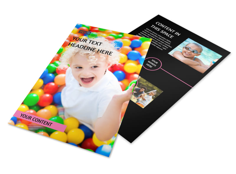 Childrens Activity Centers Flyer Template 3