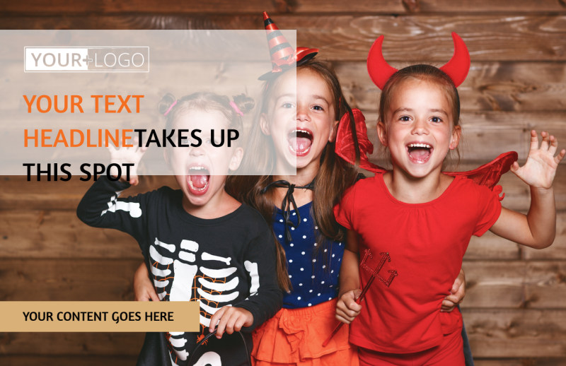 Halloween Costumes Postcard Template Preview 2