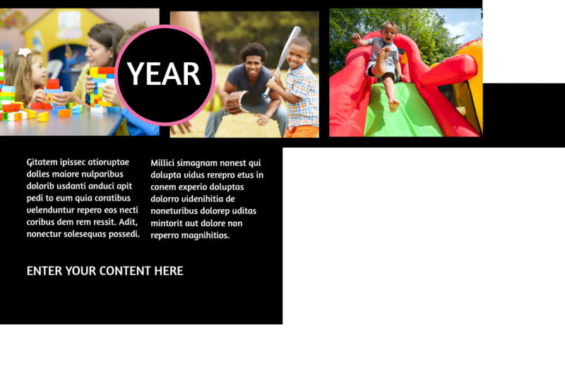 Childrens Activity Centers Postcard Template Preview 3