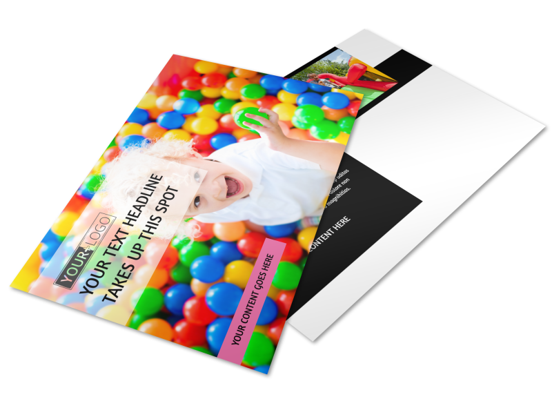 Childrens Activity Centers Postcard Template Preview 1