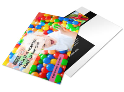 Childrens Activity Centers Postcard Template
