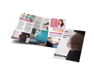Pregnancy Counseling Bi-Fold Brochure Template