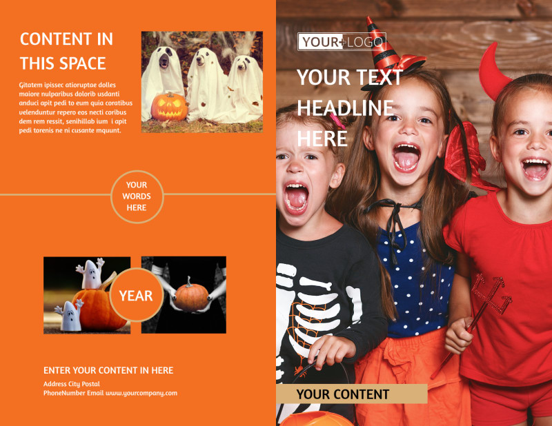 Halloween Costumes Brochure Template Preview 2
