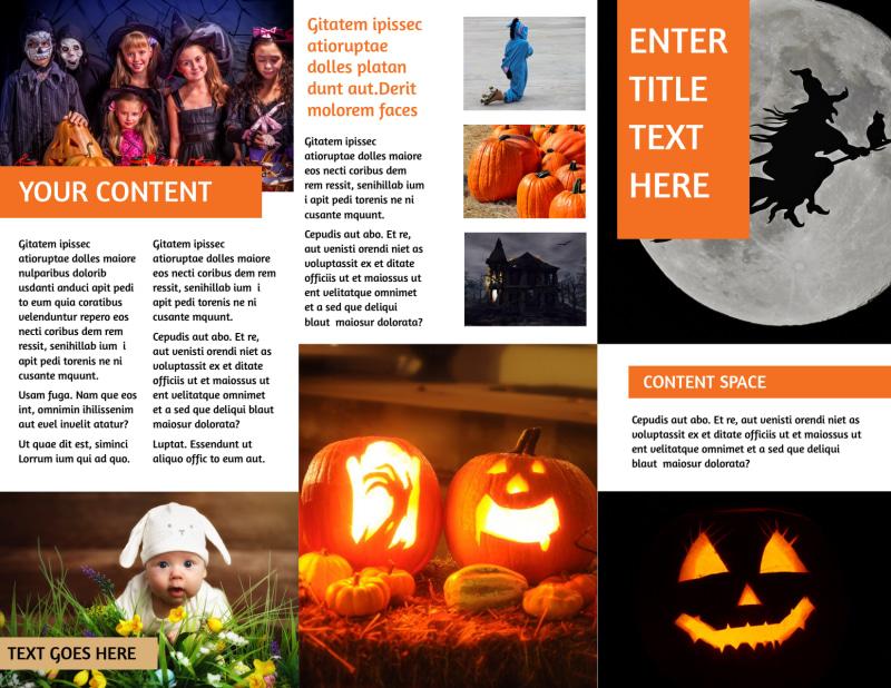 Halloween Costumes Brochure Template Preview 3