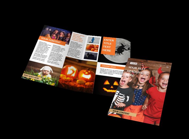 Halloween Costumes Brochure Template Preview 1