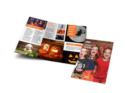 Halloween Costumes Bi-Fold Brochure Template preview
