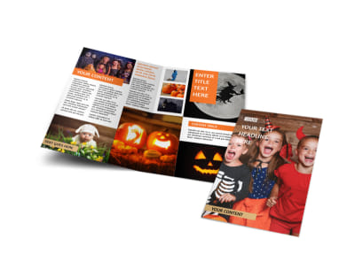 Halloween Costumes Bi-Fold Brochure Template