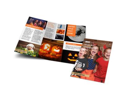 Halloween Costumes Bi-Fold Brochure Template