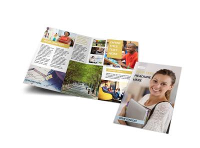 Leading Art & Design School Bi-Fold Brochure Template