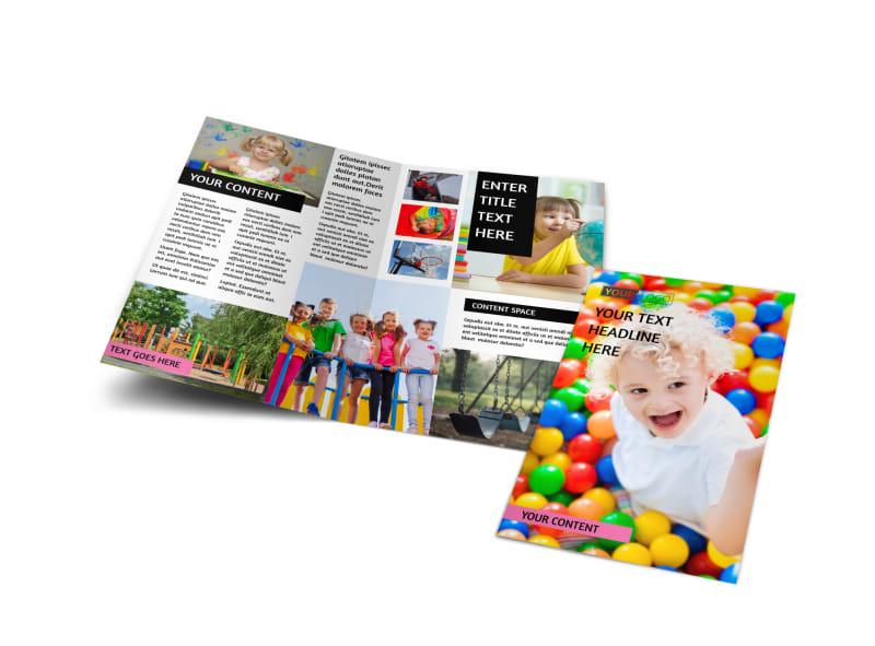 Childrens Activity Centers Bi-Fold Brochure Template