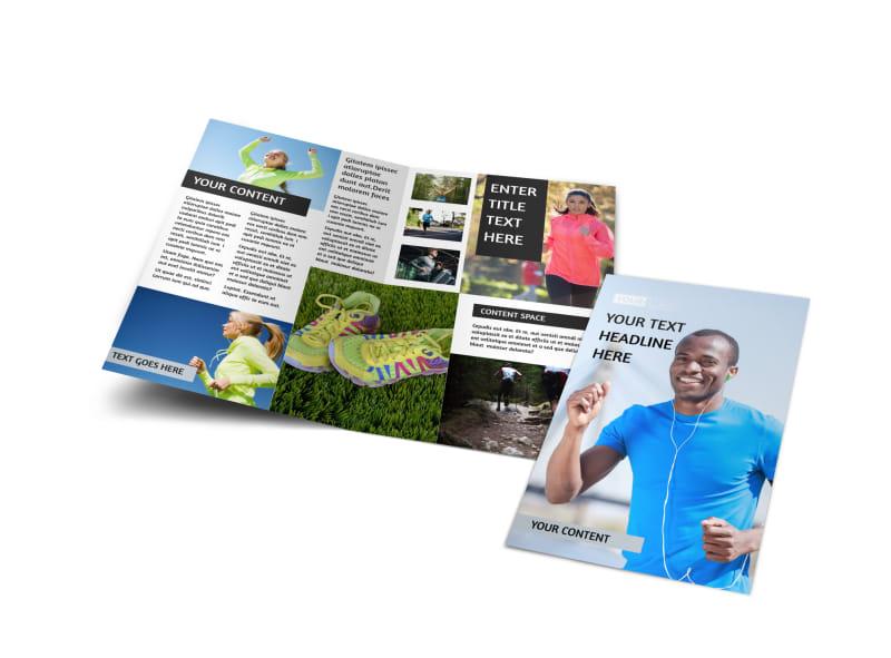 Running Clubs Bi-Fold Brochure Template
