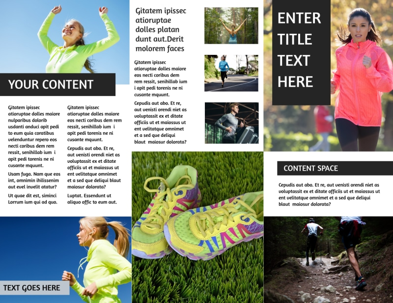 Running Clubs Brochure Template Preview 3