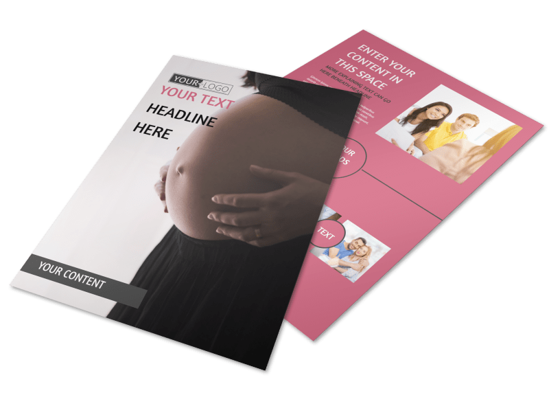 Pregnancy Counseling Flyer Template Preview 1