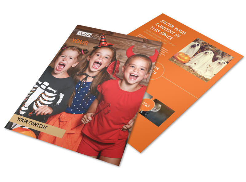 Halloween Costumes Flyer Template Preview 4