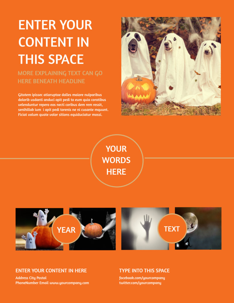 Halloween Costumes Flyer Template Preview 3