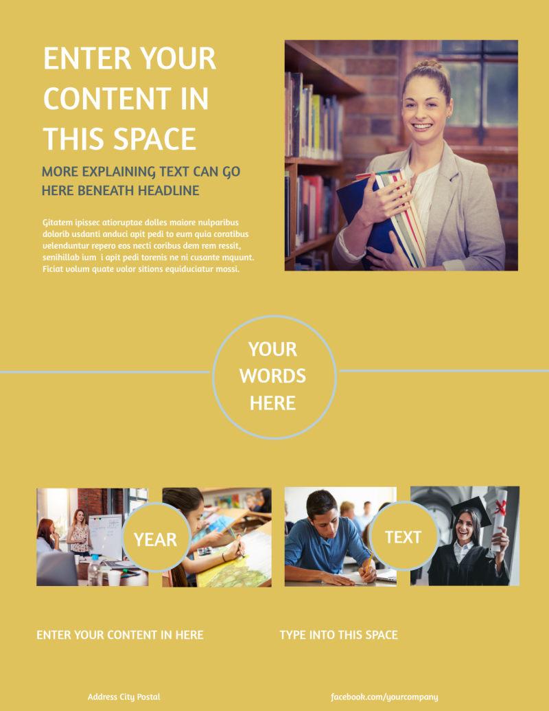 Leading Art & Design School Flyer Template Preview 3