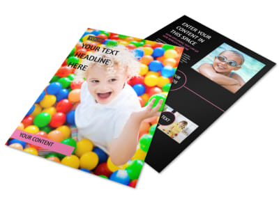 Childrens Activity Centers Flyer Template