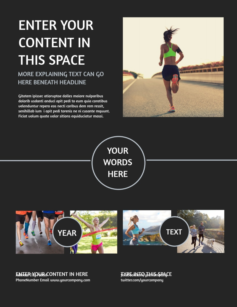 Running Clubs Flyer Template Preview 3