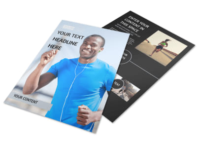 Running Clubs Flyer Template preview