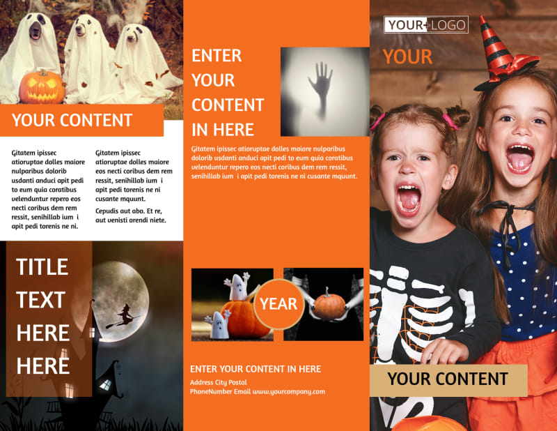 Halloween Costumes Brochure Template Preview 2