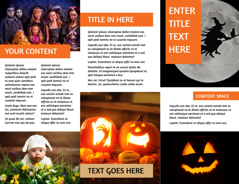 Halloween Costumes Brochure Template Preview 3