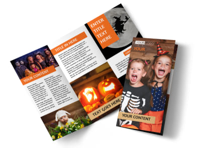 Halloween Costumes Tri-Fold Brochure Template preview