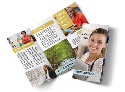 Leading Art & Design School Tri-Fold Brochure Template