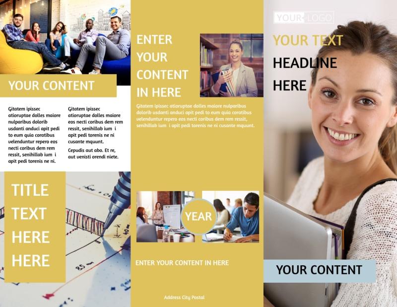 Leading Art & Design School Brochure Template Preview 2