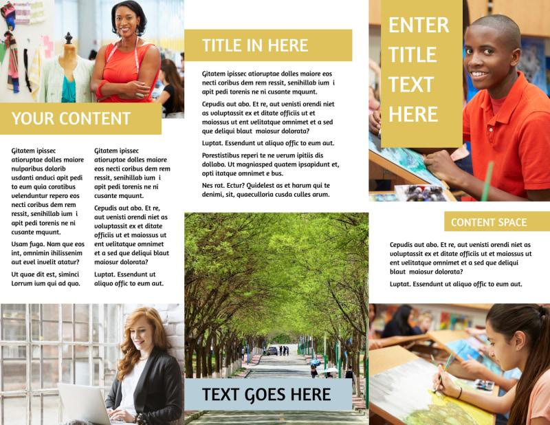 Leading Art & Design School Brochure Template Preview 3