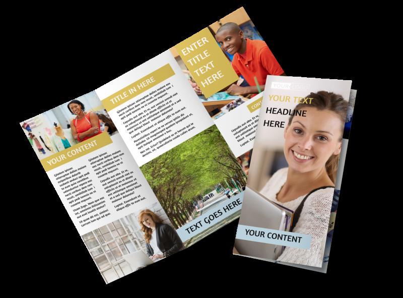Leading Art & Design School Brochure Template Preview 1