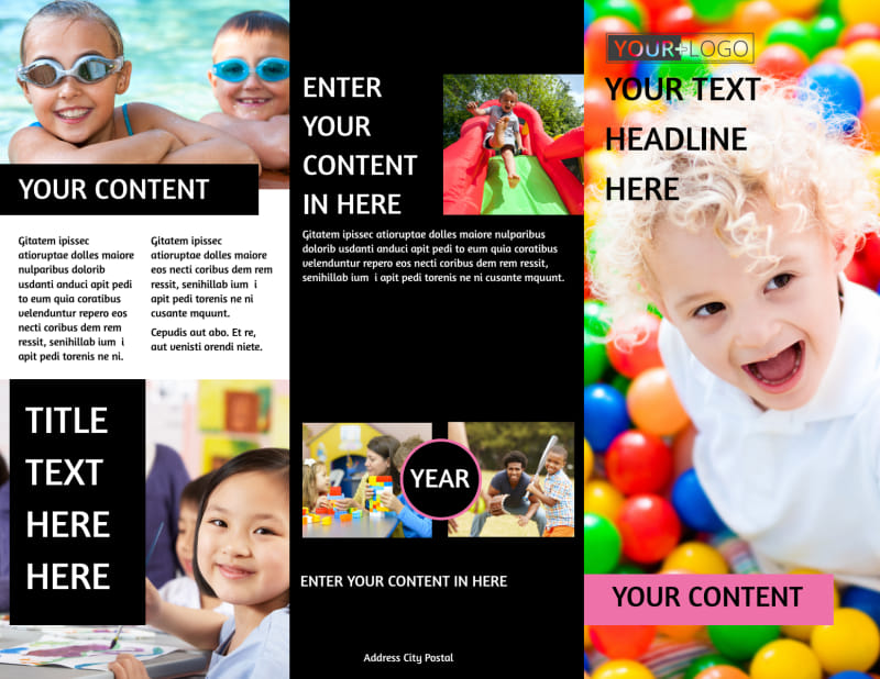 Childrens Activity Centers Brochure Template Preview 2