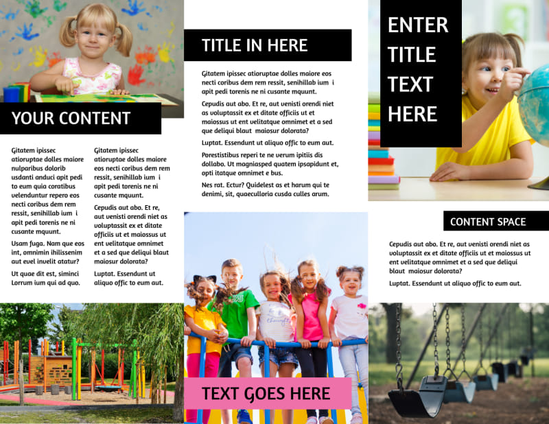 Childrens Activity Centers Brochure Template Preview 3