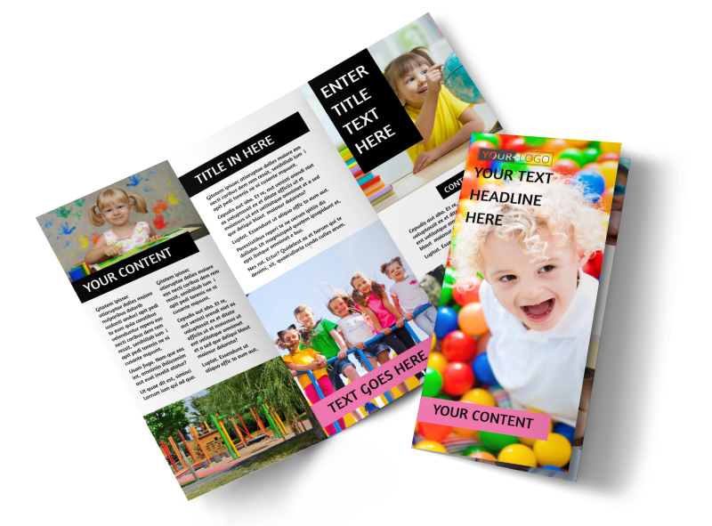 Childrens Activity Centers Brochure Template Preview 1