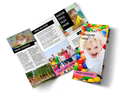 Childrens Activity Centers Tri-Fold Brochure Template