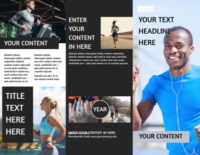 Running Clubs Brochure Template Preview 1